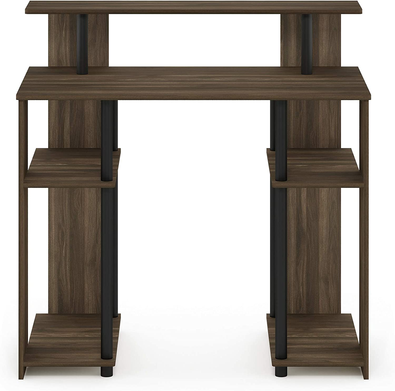 Furinno JAYA Simple Design Computer Writing Desk, Columbia Walnut/Black
