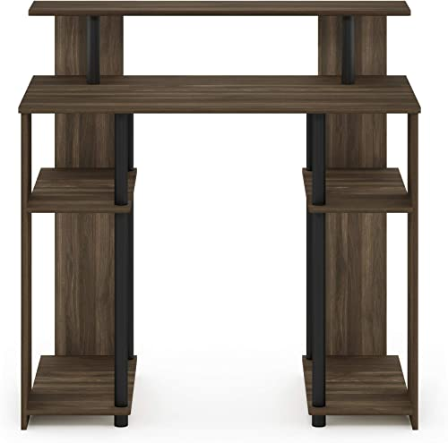 Furinno JAYA Simple Design Computer Writing Desk, Columbia Walnut Black