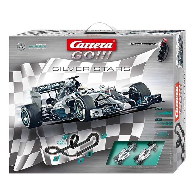 Carrera Go!!! - Silver Stars (Mercedes Packaging, Mercedes-Benz F1 W05) 5.3 m, Escala 1:43 (20062364): Amazon.es: Juguetes y juegos