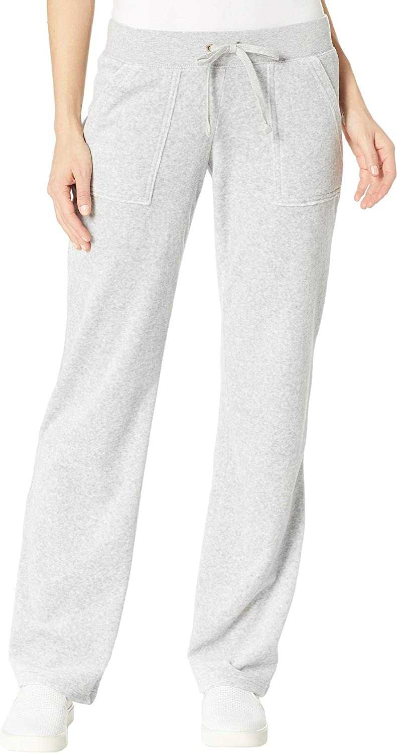 Buy Juicy Couture Black Label Women S Velour Interwoven Del Rey Pant Silver Lining Xs At Amazon In