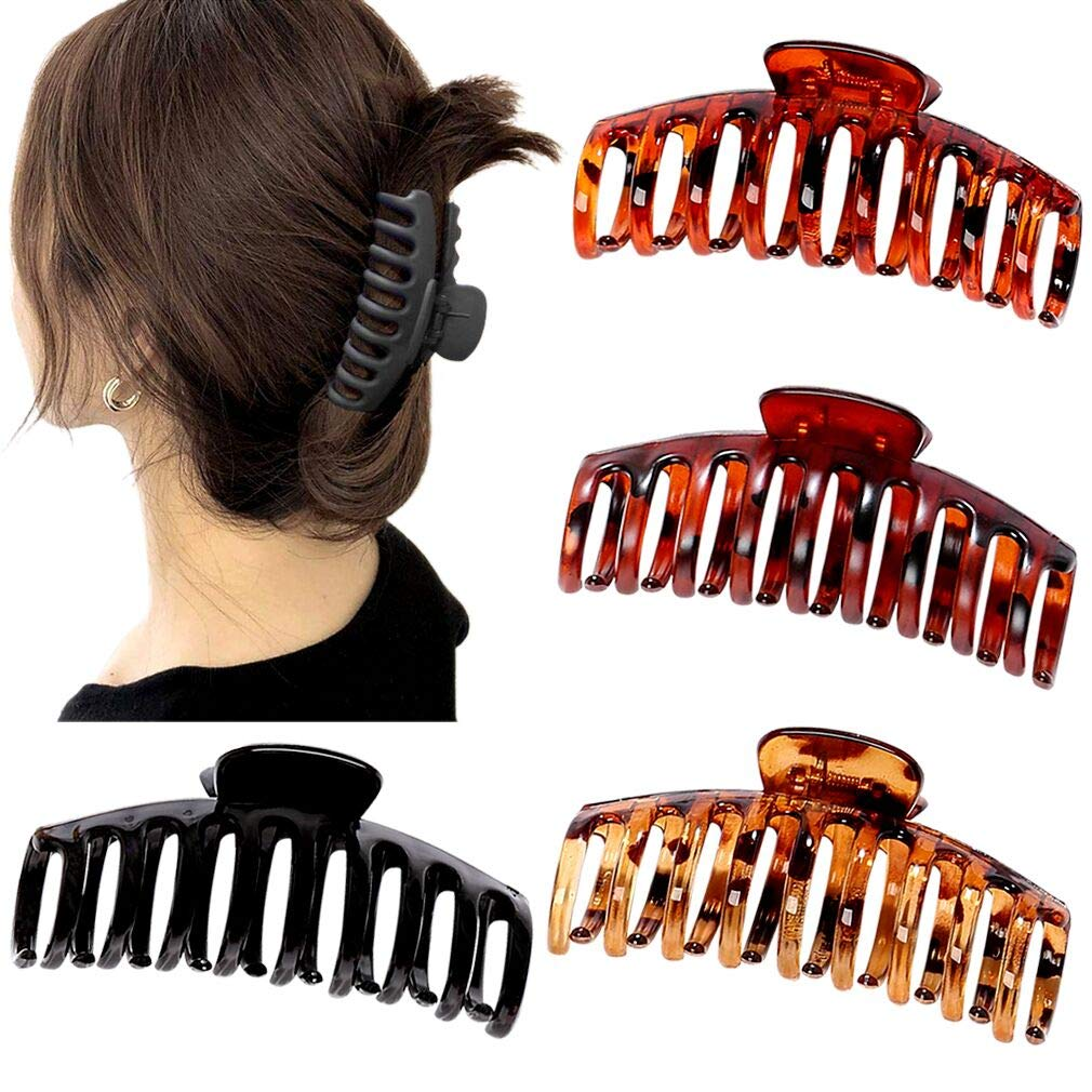 Strong Large Flower Hair Clip Clasp Casual Thick Hair Pin Clamp Bun Updo Tools