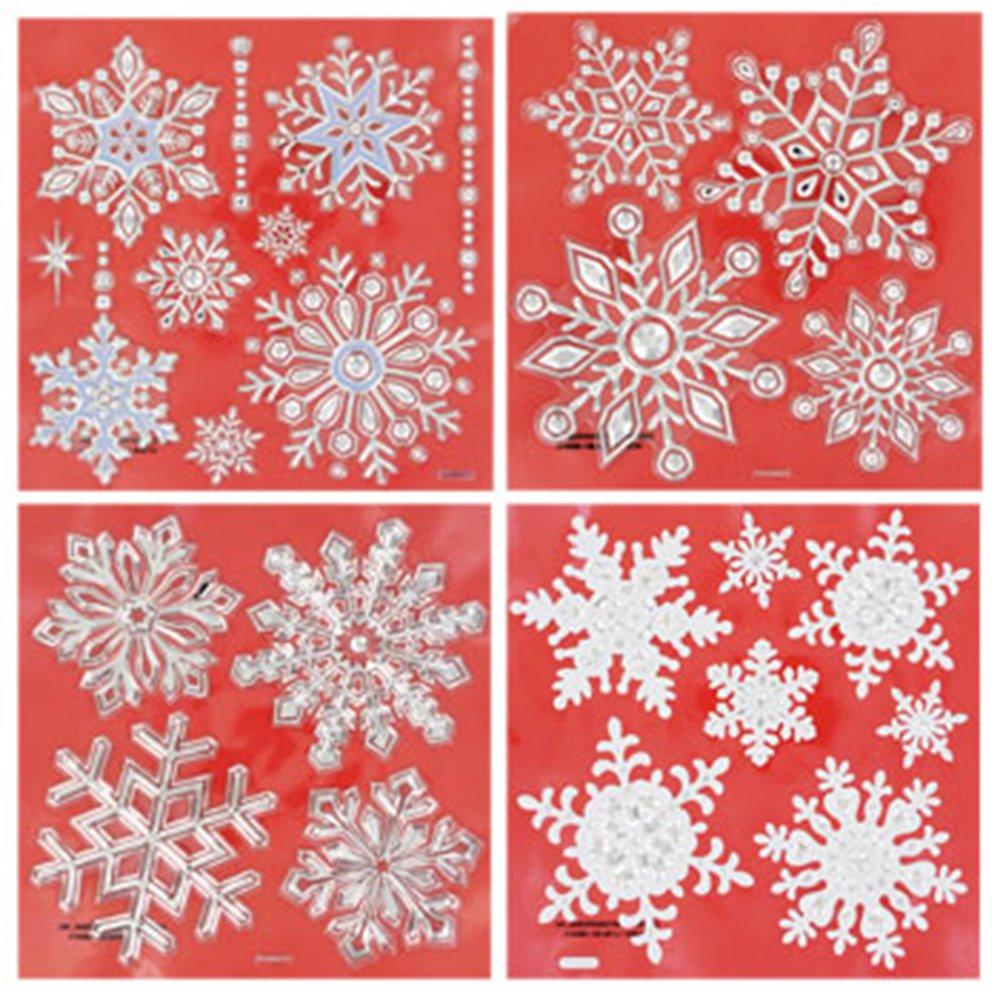 Snowflake Decorative Window Stickers, 25 Snowflakes