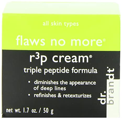 Dr. Brandt  Flaws No More R3p Triple Peptide 1.7-ounce Cream Andalou Naturals, Deep Wrinkle Dermal Filler, Age Defying, .6 fl oz (18 ml) (Pack of 2)