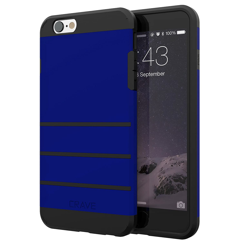 iPhone 6S Plusケース、iPhone 6 Plusケース、iPhone 6 / 6s Plus(5.5インチ)用Crave Strong Guard保護シリーズケース - ネイビーブルー   B01HJ4D8V2