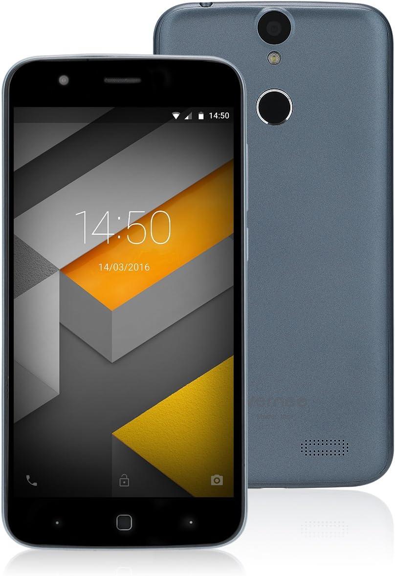 Vernee Thor 4G Smartphone Libre, 5.0 Pulgadas Android 7.0 MTK6753 Octa-Core 3GB RAM 16GB ROM Teléfono Móvil con Cámaras de 5MP + 13MP,Doble SIM,Huella Dactilar(Gris): Amazon.es: Electrónica