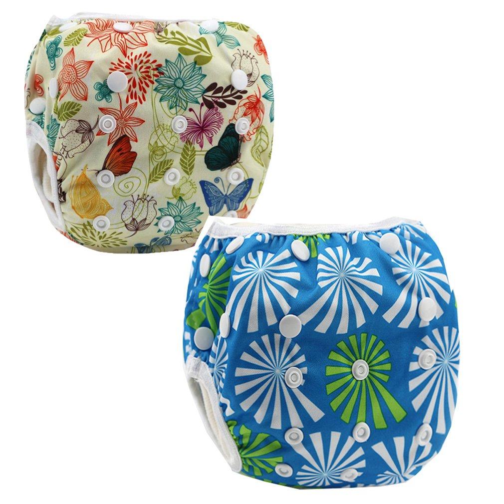 JT-Amigo Reusable Baby Swim Nappy Diapers (Pack of 2), Set 2 Baby-SwimDiaper-Set2