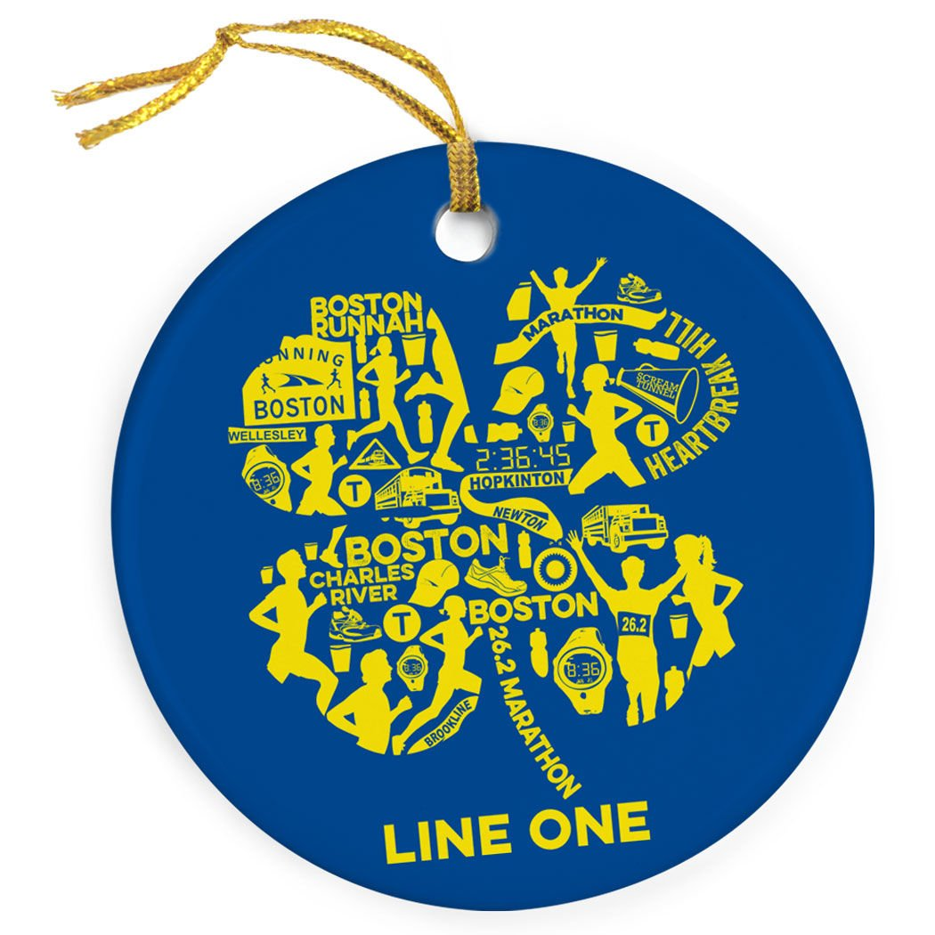 Gone For a Run Personalized Running Porcelain Ornament | 26.2 Boston Christmas Ornament