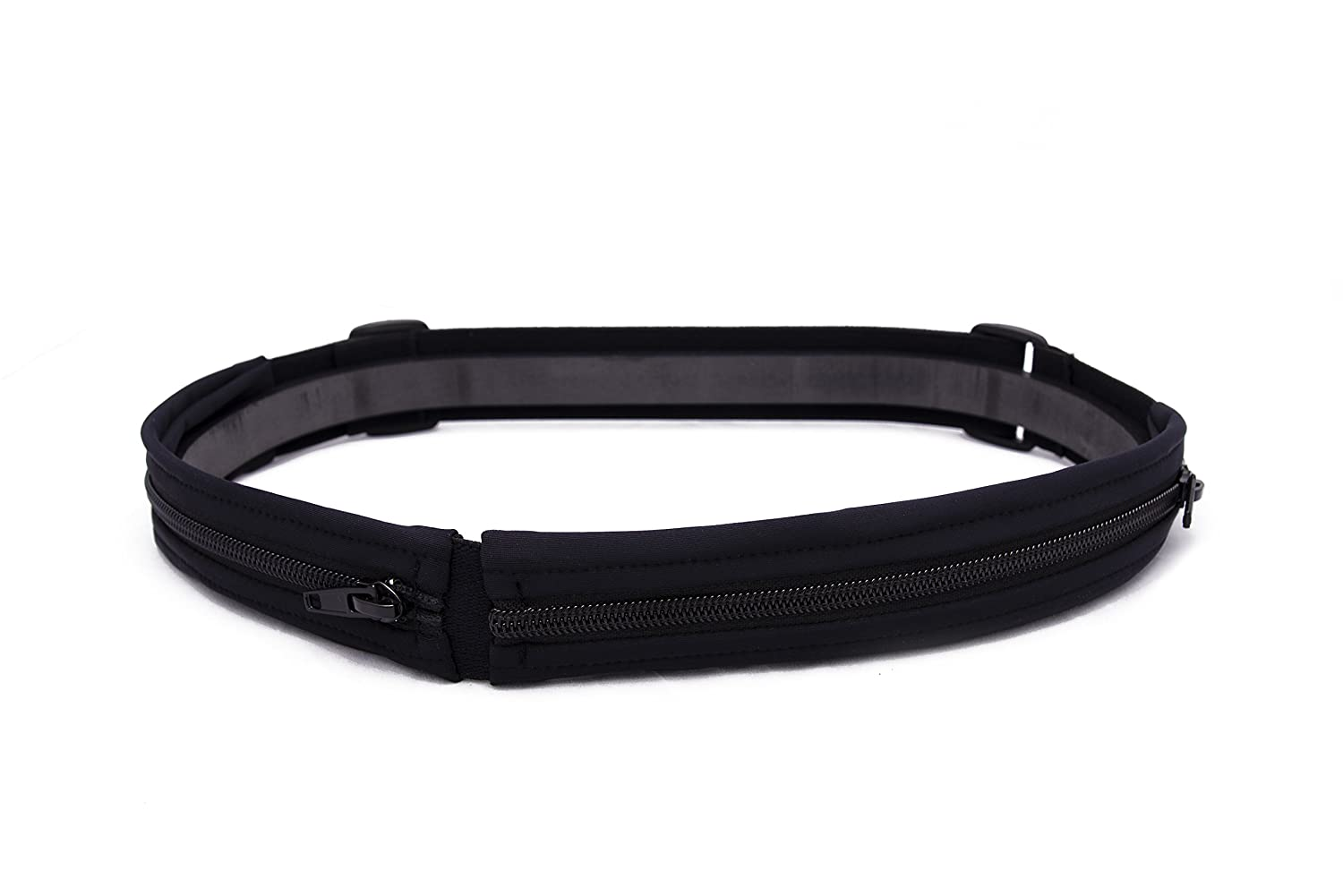 SPIbelt Glide No-Bounce Running Belt That You Can Step Into – No Buckles – 2 Pockets – for Runners, Athletes and Adventurers