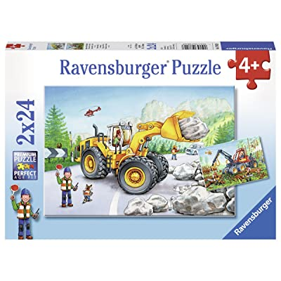 Ravensburger 07802, Diggers at Work 2 x 24 Piece Puzzles in a Box, 2 x 24 Piece Puzzles for Kids, Every Piece is Unique, Pieces Fit Together Perfectly: Toys & Games