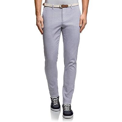 oodji Ultra Men's Belted Chino Pants at Men's Clothing store