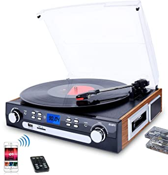 Amazon.com: DIGITNOW! Bluetooth Record Player with Stereo ...