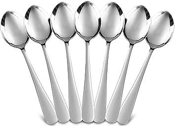 Utopia cocina de 12 piezas o cucharas para la cena set cubiertos de plata real cubiertos reales: Amazon.es: Hogar