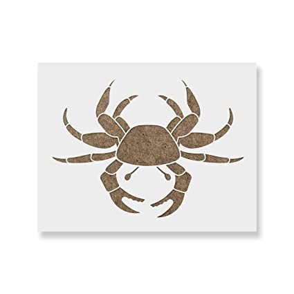 amazon com crab stencil template reusable stencil with multiple