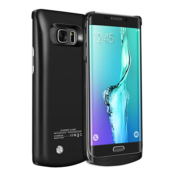 best service 4fe09 f60e7 Galaxy S6 Edge Plus Battery Case,RUXELY 4200mAh Portable External Backup  Charging Case,Rechargeable Power Charger Pack for Samsung Galaxy S6 Edge ...
