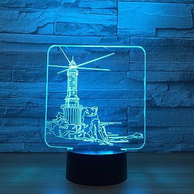 wangZJ Lámpara de iluminación para niños 3d / Luz nocturna / 7 ...