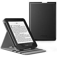 MoKo Kindle Paperwhite E-reader Case, Copertura di Vibrazione Verticale Custodia per Amazon Kindle Paperwhite (10a Generazione, 2018 Rilascio) - Nero