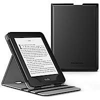 MoKo Kindle Paperwhite E-Reader Funda, Prima Voltear verticalmente Cubierta Smart Cover Case para KAmazon Kindle Paperwhite (10th Generación, 2018 Release) - Negro