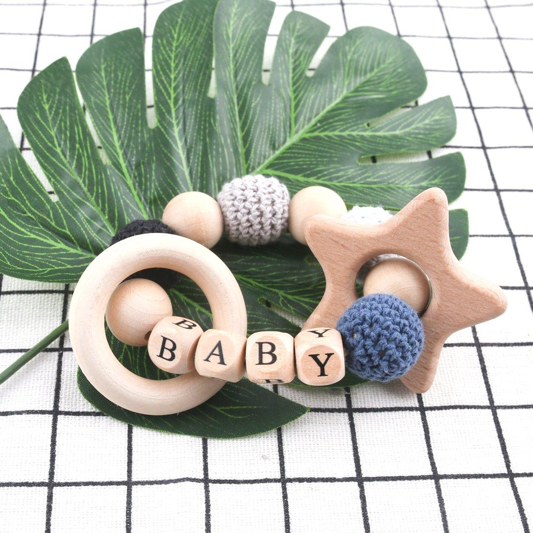 Mamimami Home Baby Holz Beißring Blume Geformt Ahorn Holz Organische