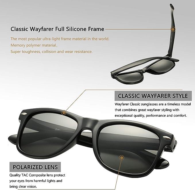 Debuff Classic Retro Sunglasses Large Stylish Polarized Sun Glasses UV400 DE013A