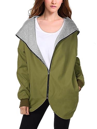 WAJAT - Abrigo Chaqueta para Mujer con Bolsillos