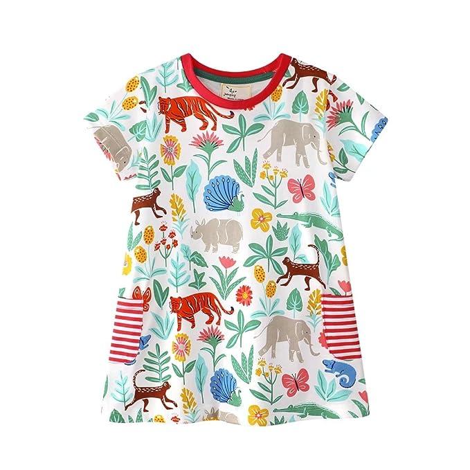 Amazon.com: Bebé Casa Niñas Camisón Tamaño 1 – 6 años, 5 ...