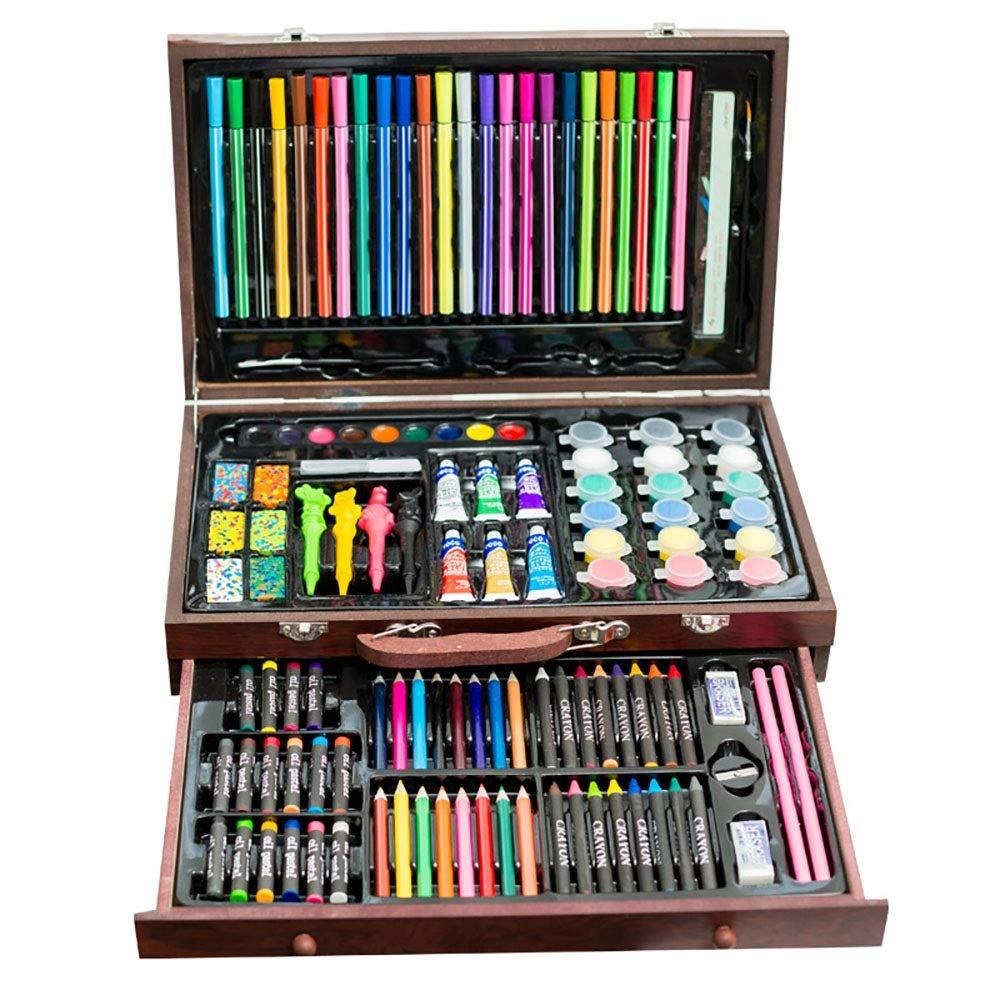 DERTHWER Children's Watercolor Pen Set 130 Water Colour Pencils Set for Adult Colouring Books Or Kids School Supplies Colored Pencil Set DIY Painting Tools (Color : Natural, Size : Free Size)