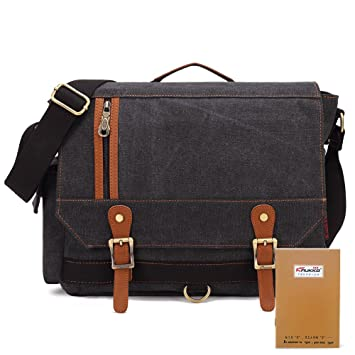 0df6f9a4e02 Image Unavailable. Image not available for. Colour  KAUKKO Vintage Canvas  Messenger Bag Daypacks Men Multifunction ...
