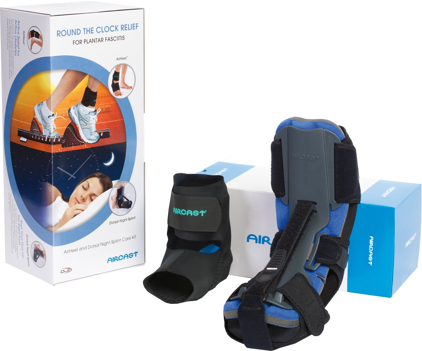 Aircast AirHeel Ankle Support Brace and Dorsal Night Splint (DNS) Care Kit, Medium by Aircast