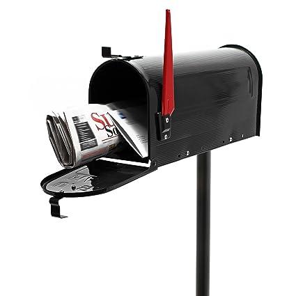 Buzón correo US Mail diseño americano negro pie apoyo ...