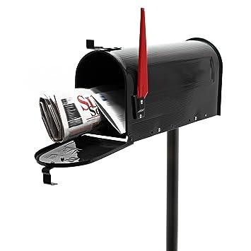 US Mailbox Briefkasten Amerikanisches Design schwarz mit passendem Standfu/ß
