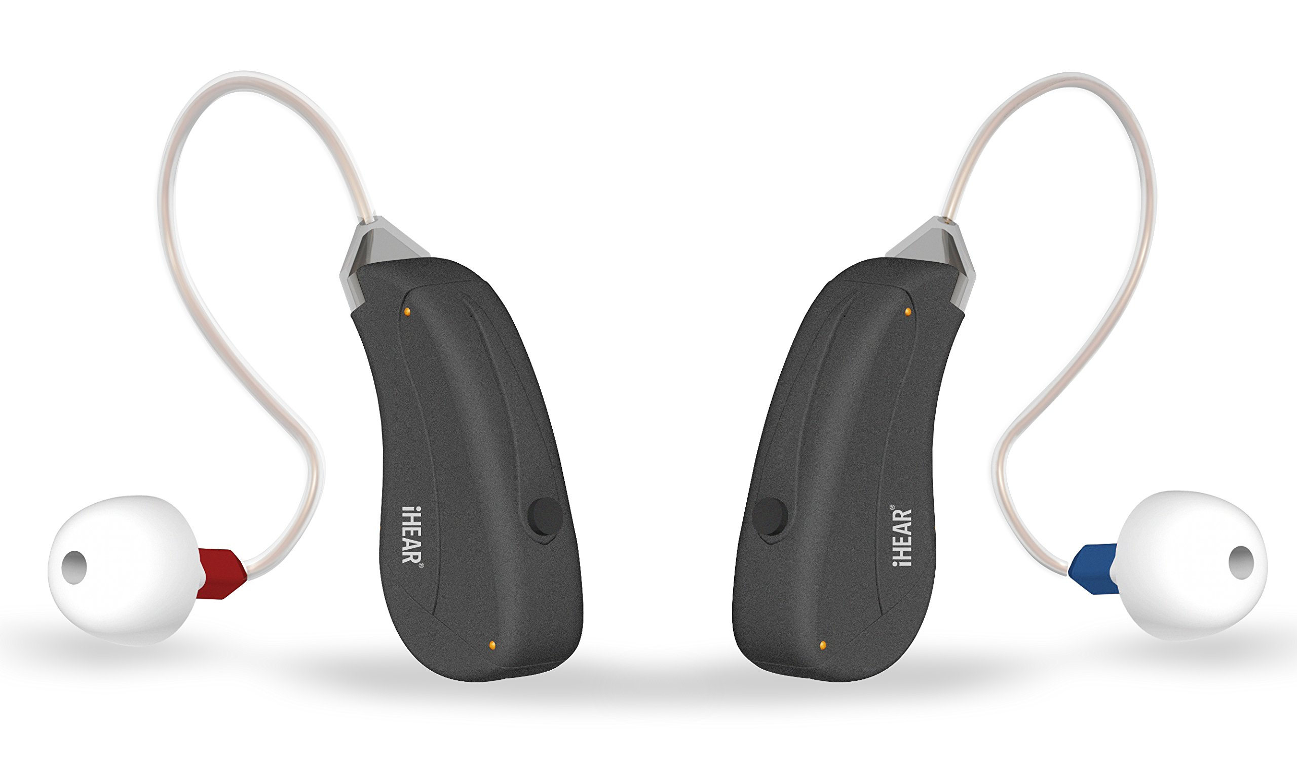 iHearMAX - First & Only Home-Programmable High Definition Hearing Device (Gray Pair, Standard Wire), FDA-Registered