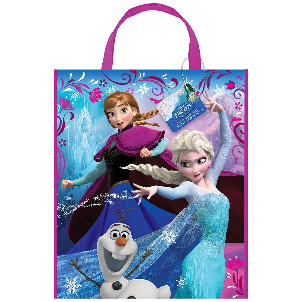 Disney Grand Sac en Plastique Parti Frozen, 33 x 27,9 cm Unique Industries 45050