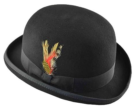 f8ec7c8e69713b K Men's Wool Felt Derby Hat Black at Amazon Men's Clothing store: