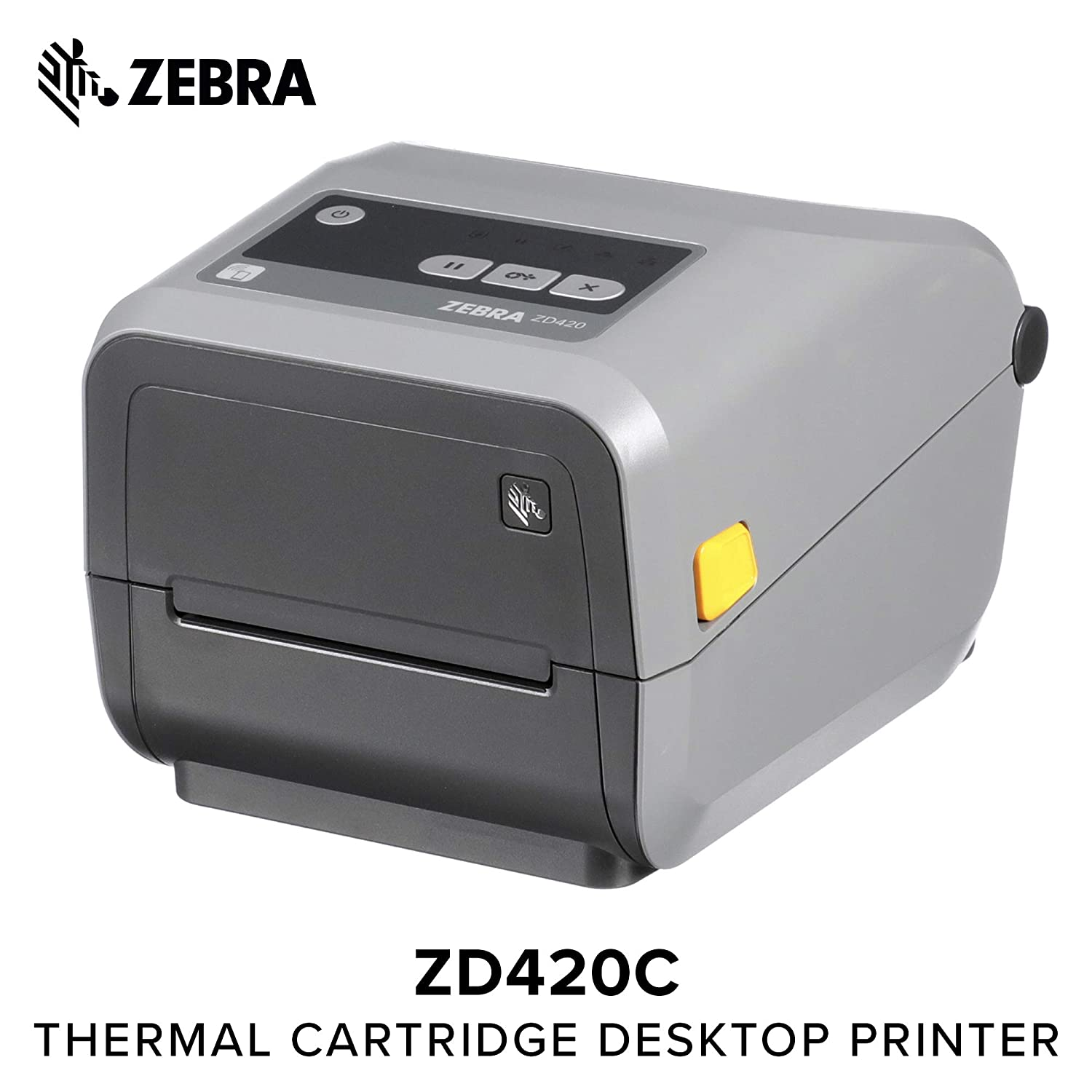 Zebra - ZD420c Ribbon Cartridge Desktop Printer for Labels and Barcodes -  Print Width 4 in - 203 dpi - Interface: WiFi, Bluetooth, USB -