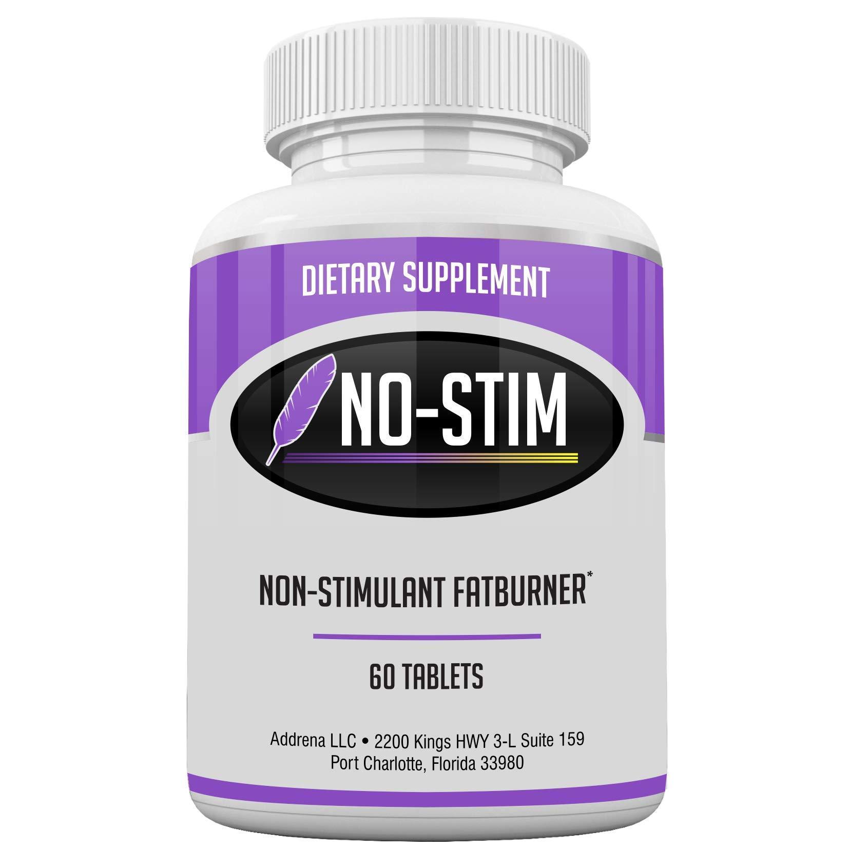 Non Stimulant Fat Burner Diet Pills That Work- No Stimulant Appetite Suppressant & Best Caffeine Free Weight Loss Supplement for Women & Men- Natural Thermogenic Fat Loss Pill - No-Stim 60 Tablets by Addrena