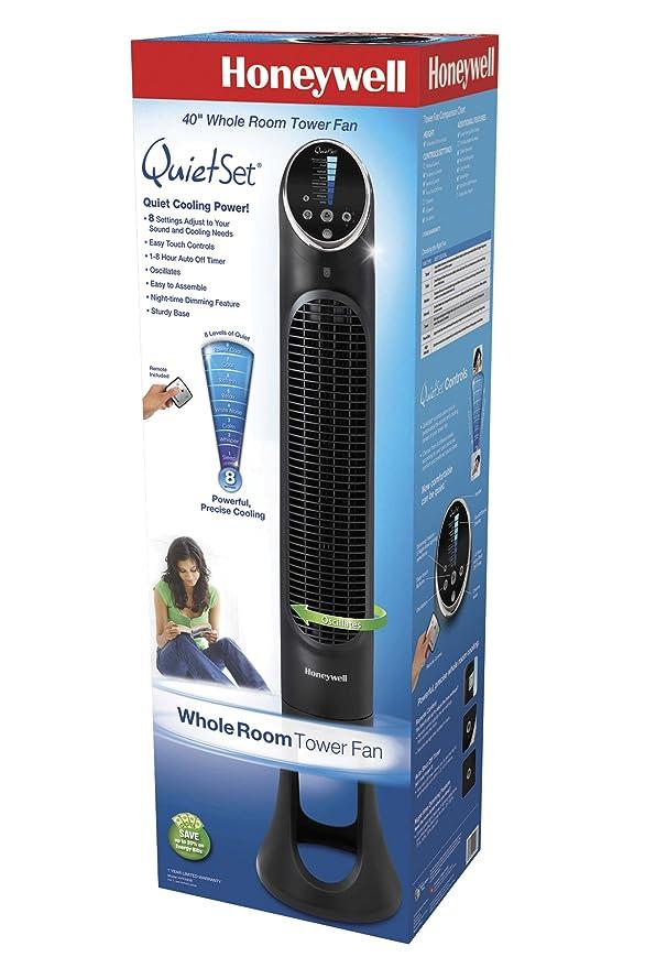 Amazon Com Honeywell Hyf290b Quietset 8 Speed Whole Room Tower Fan