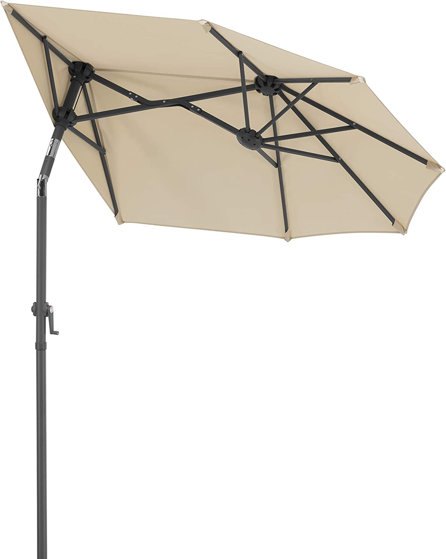Schneider-Schirme Salerno Mezzo Parasol de Balcon Naturel 150 x 150 cm