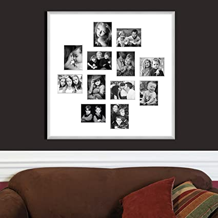 Buy Elegant Arts & Frames Frosted Silver Classic Metal Collage Photo ...