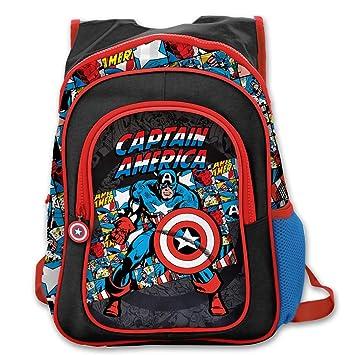 Amazon.com  1 Piece Black Kids Captain America Backpack d2e89621887e5