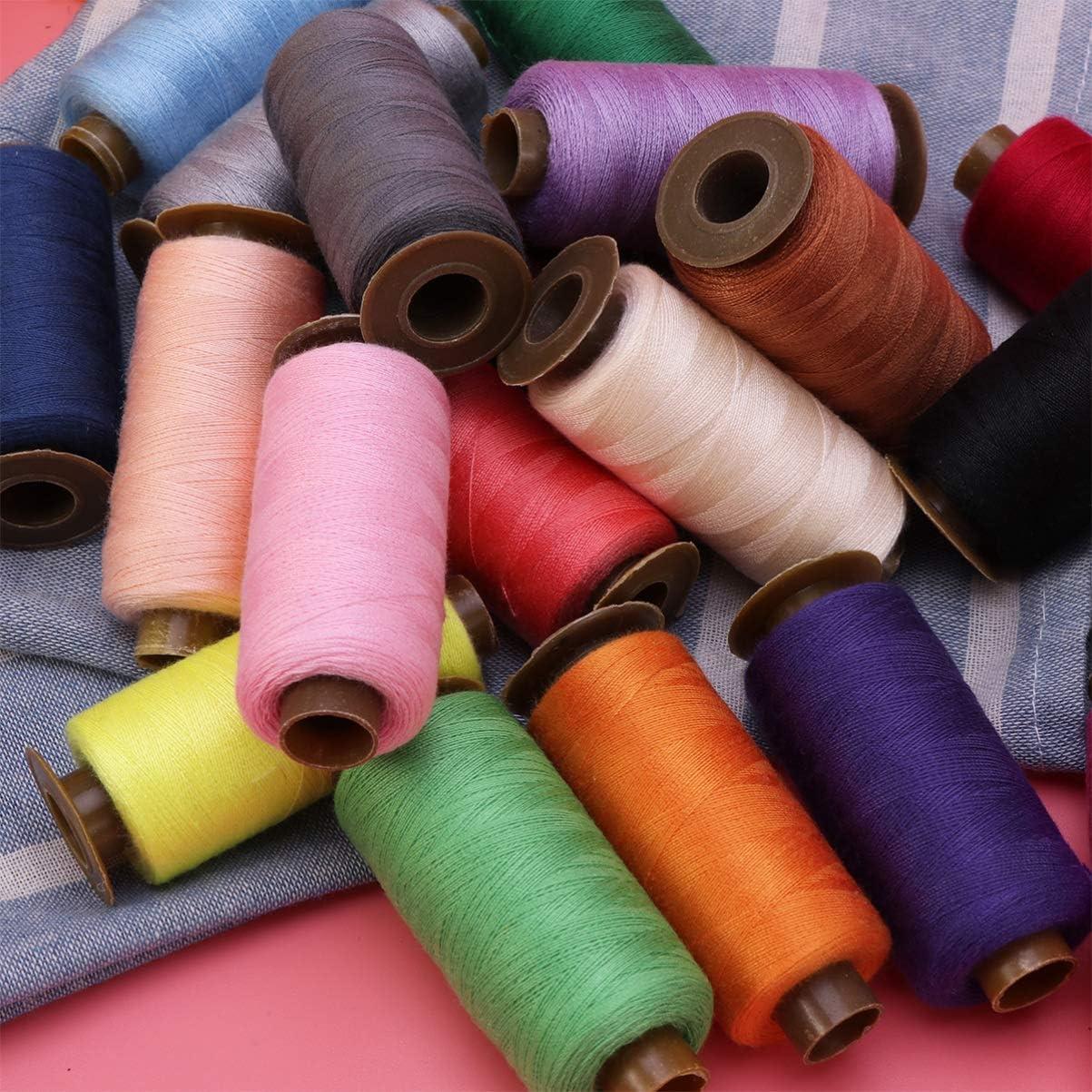 HEALLILY Fils /à Coudre 500 M/ètres Bobines Color/ées Fil de C/ône pour Draperie Perles Rembourrage Couture Artisanat Fournitures 24 Pcs