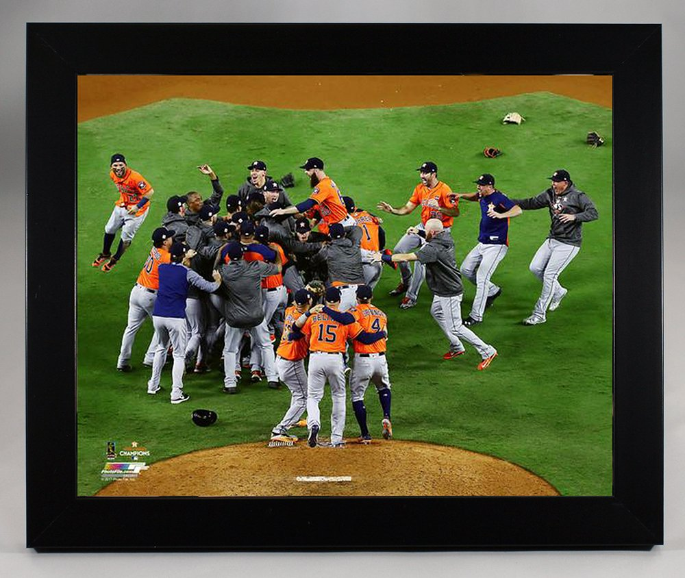 Framed The Houston Astros, On The Mound Celebration Moments After Winning The 2017 World Series 8x10 Photograph Picture.