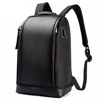 Amazon Com Business Men Office Usb Charge Cool Leather Backpack