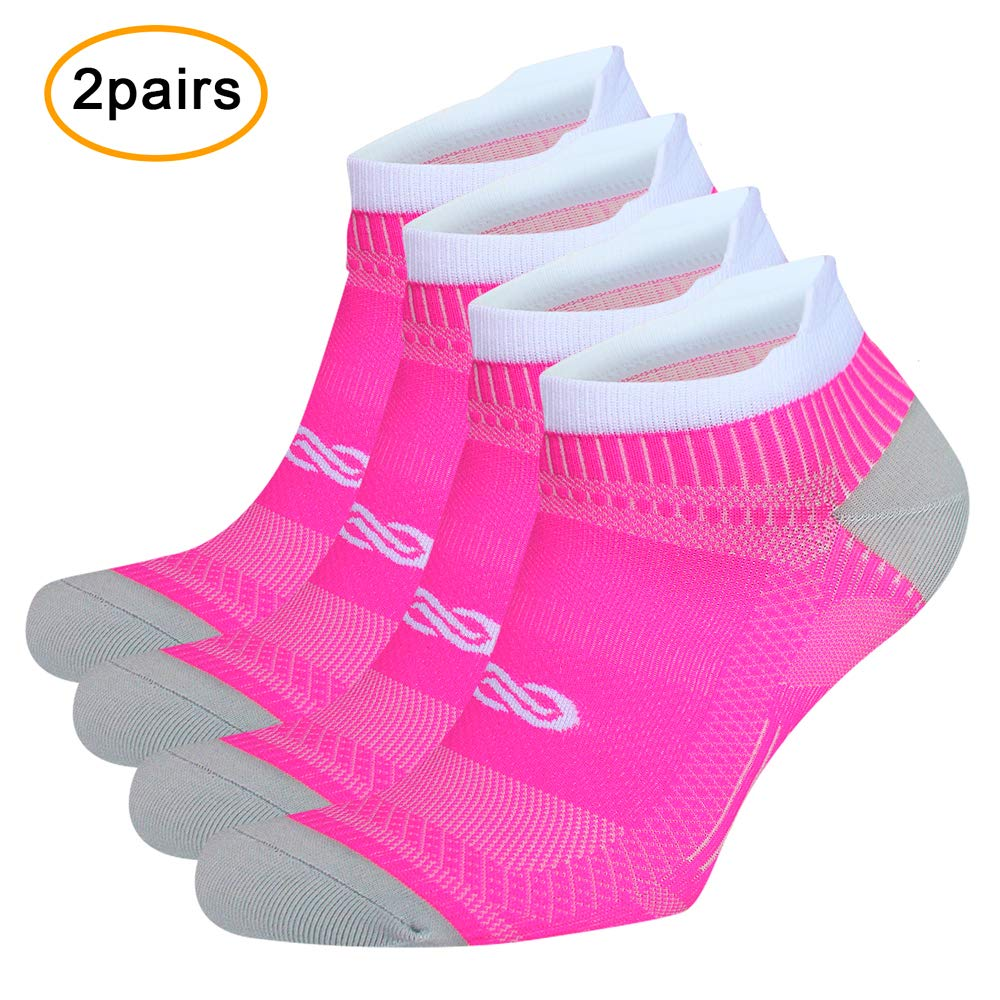 No Show Compression Socks for Men and Women, Low Cut Running Ankle Socks with Arch Support for Plantar Fasciitis, Cyling, Athletic, Flight, Travel, Nurses