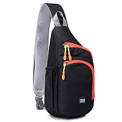 Lecxci Small Outdoor Chest Sling Shoulder Bag  Ultra-lightweight Waterproof  Nylon   Hiking Cycling Camping Travel  Sling Shoulder Chest Daypack Backpack  Bag ... 5009a14063493