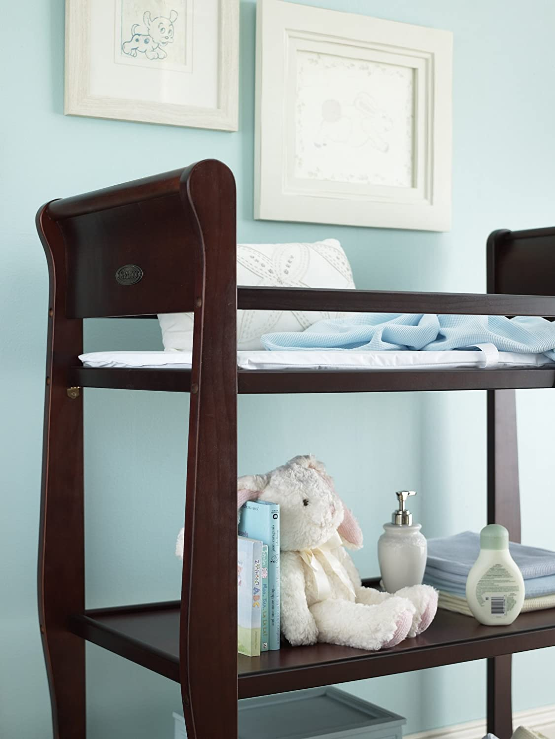 Amazon.com : Graco Sarah Dressing Table, Cherry (Discontinued By  Manufacturer) : Changing Tables : Baby