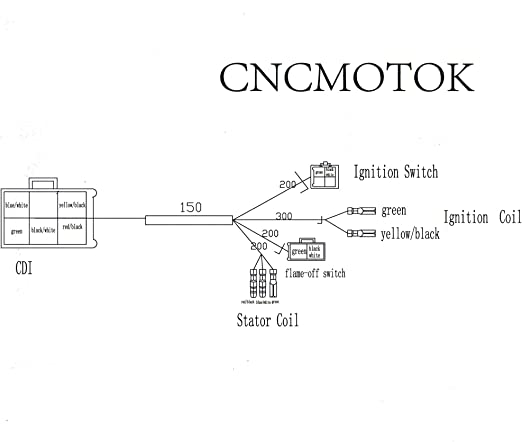 cdi ignition schematic amazon com cncmotok wiring loom harness kill switch ignition coil  cncmotok wiring loom harness