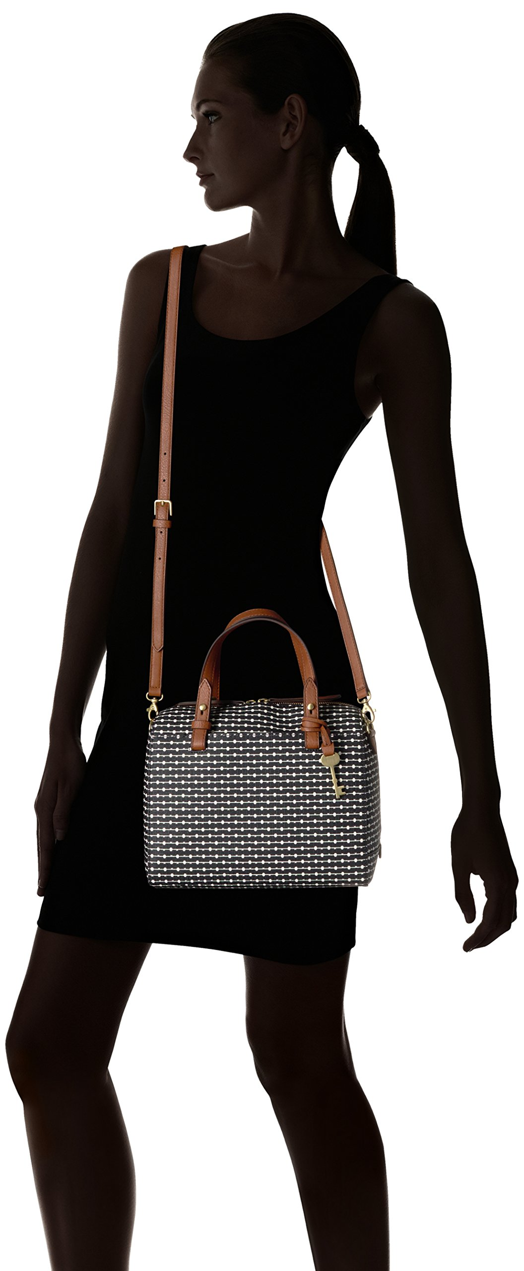 Fossil Rachel Satchel Handbag, Black Dot by Fossil (Image #6)