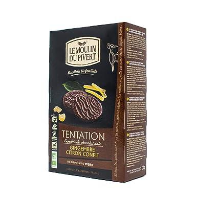 Galletas Tentación jengibre y limón bañadas en chocolate negro BIO ...