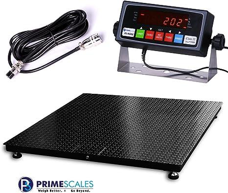 Amazon.com: Prime Scales 10000x1lb báscula de piso | escala ...