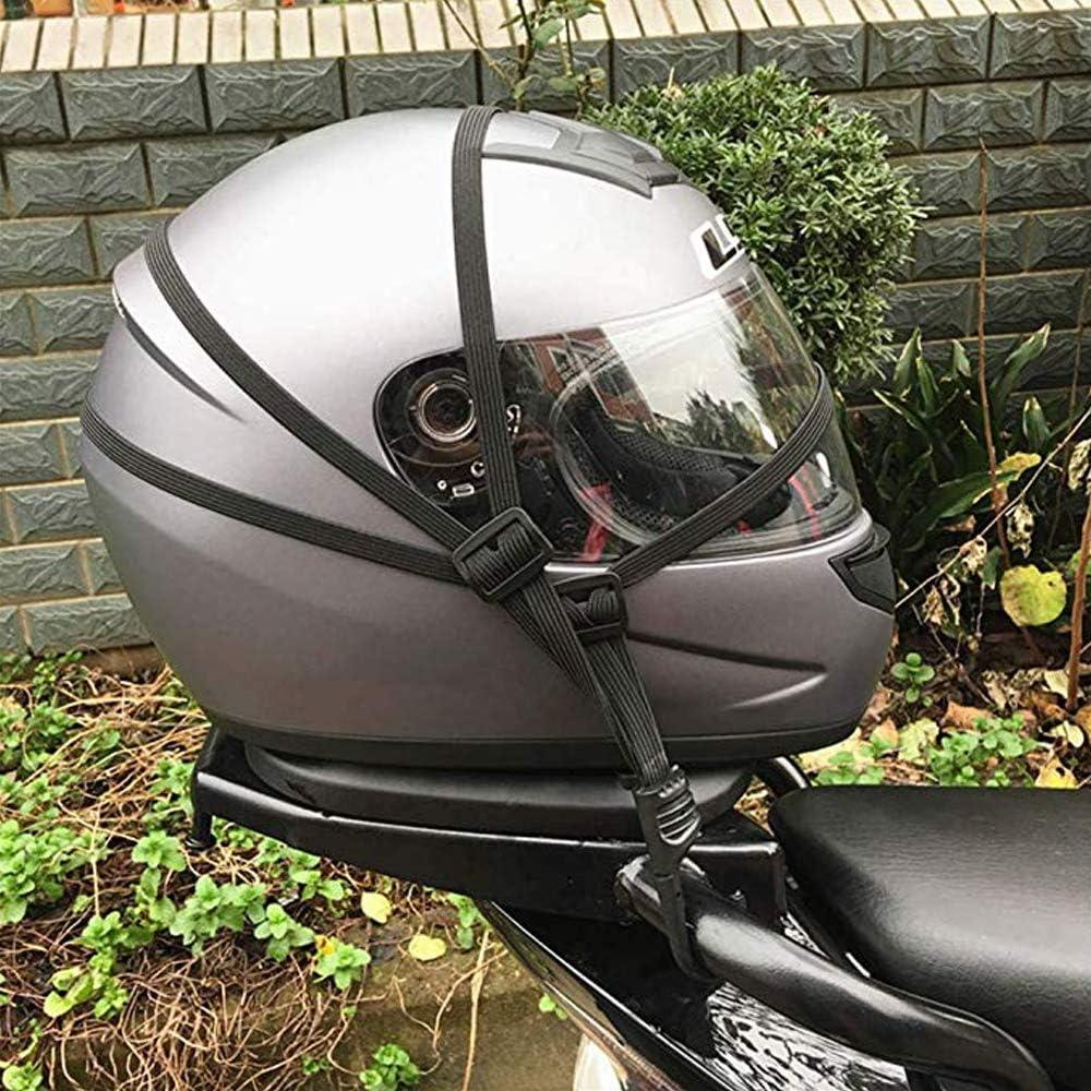 2 Pcs Motorcycle Helmet Strength Retractable Elastic Rope with Two Hooks Universal Luggage Flexible Strap Ties Belting 60cm helmet bag sundries net tail frame helmet rope